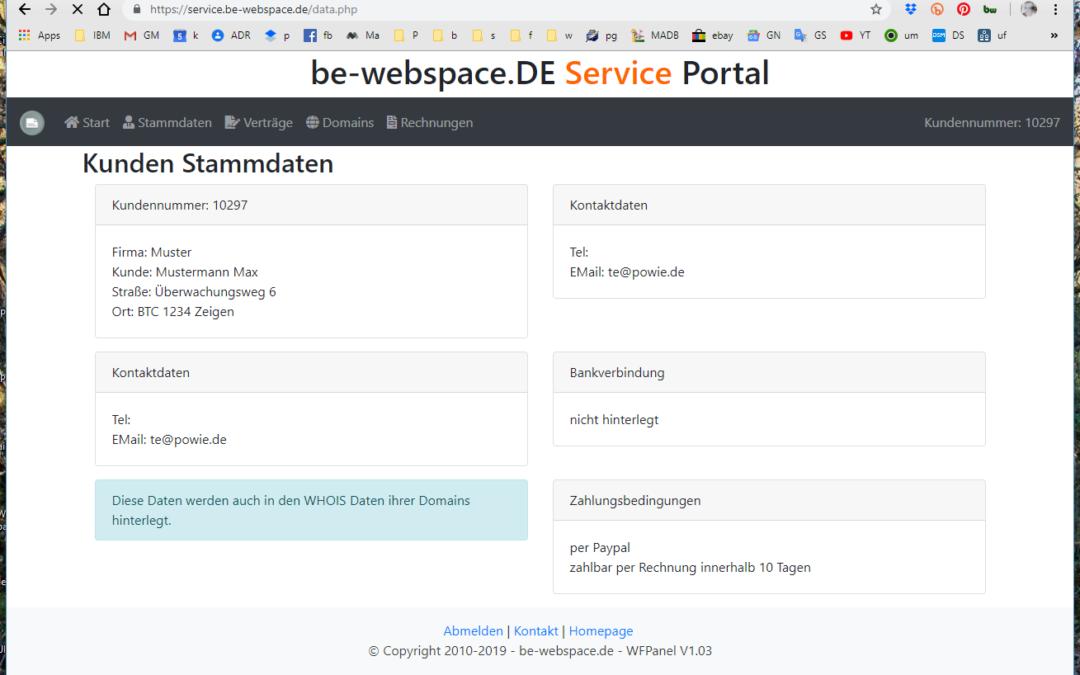 Neues Service Portal