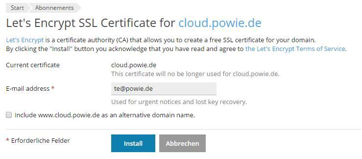 Wordpress auf SSL umstellen mit LetsEncrypt in Plesk